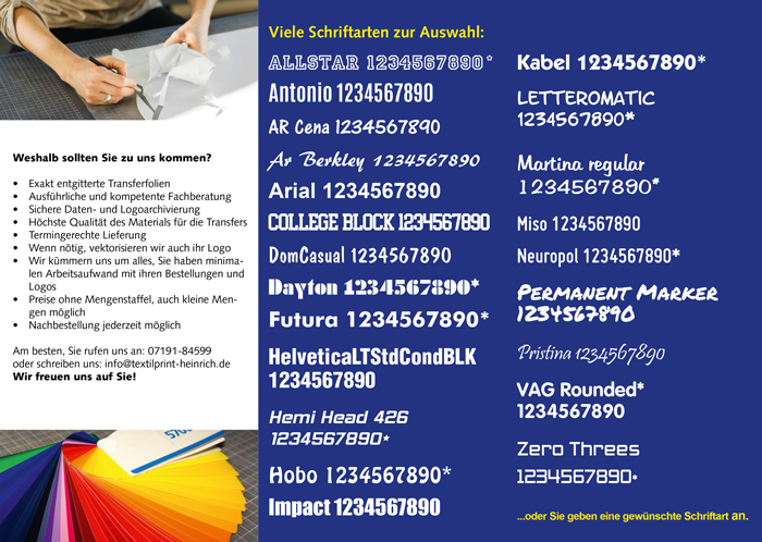 Flyer Flock- und Flexfolien